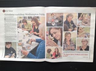 Your Time: Kusudama workshop, Westhampton Public Library (Daily Hampshire Gazette)