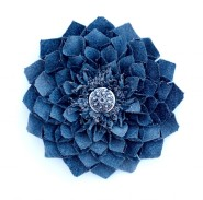 Denim Dahlia Wall Art